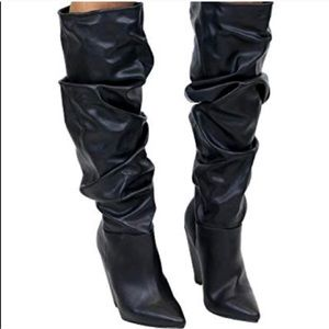 🔥 black slouchy boots 🔥